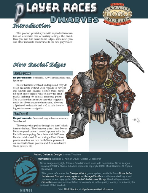 Player Races Dwarves Cover