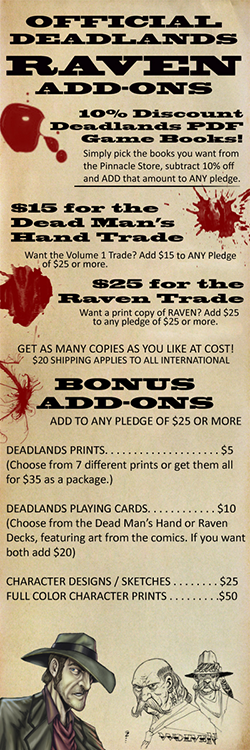 Raven Graphic Novel Kickstarter Add-Ons