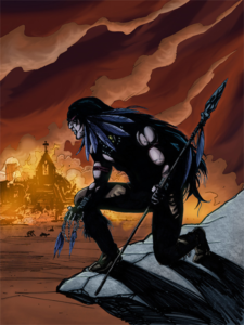 Raven Graphic Novel Art - Raven Burning