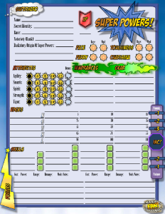 Super Powers Character Sheet
