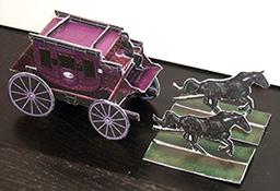 Black Coach Paper Model for Deadlands: Reloaded