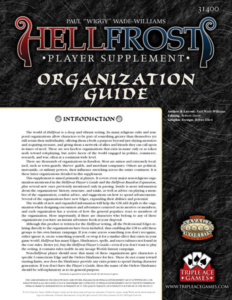 Hellfrost Organization Guide