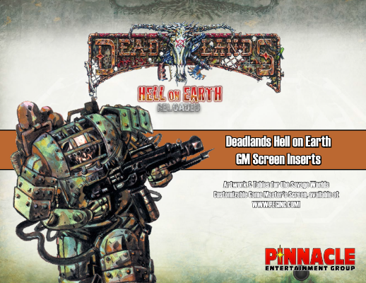 Hell on Earth: Reloaded Screen Inserts