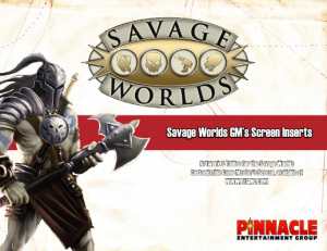 Savage Worlds Deluxe Screen Inserts