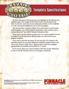 Savage Worlds Template Specifications