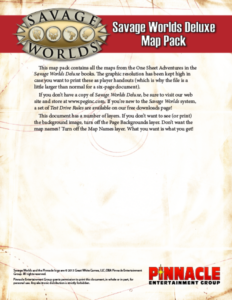Savage Worlds Deluxe Map Pack