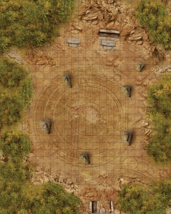 Weird Wars Rome RPG: Druid Circle/Village: Map -  Pinnacle Entertainment Group