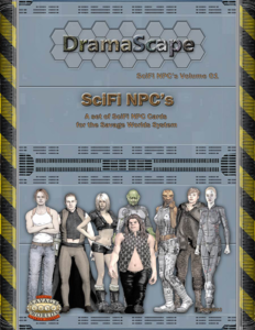 Dramascape SciFi NPCs Cards for Savage Worlds