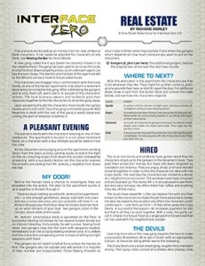 Real Estate One Sheet for Interface Zero 2.0