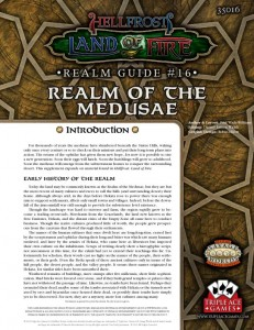 Realm Guide 16: Realm of the Medusae for Triple Ace Game's Hellfrost Land of Fire