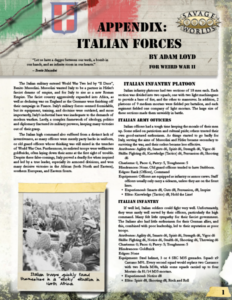 Italian Forces for Weird War II