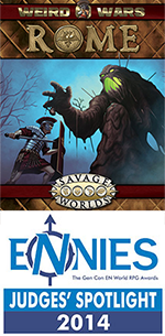 Weird Wars: Rome - Judges' Spotlight ENnie Winner