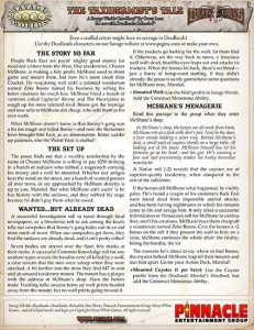 Taxidermist's Tale - A Deadlands One-Sheet Adventure