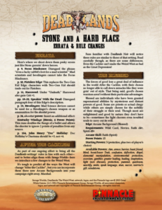 Stone and a Hard Place Errata and Arcana Unleashed