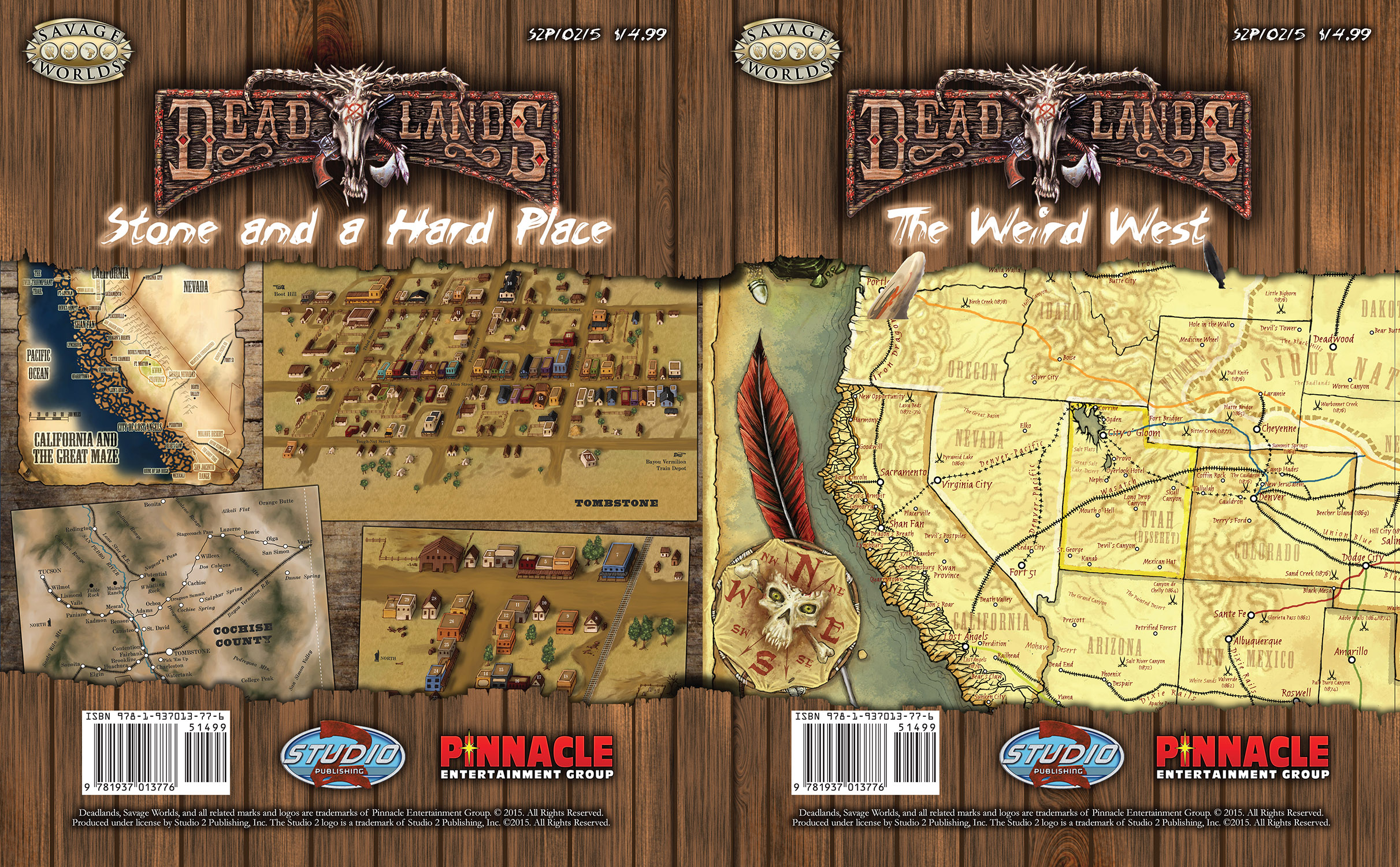 Deadlands California Map.Deadlands Stone And A Hard Place Poster Map