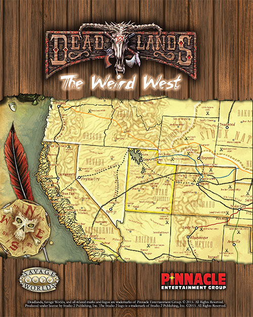 Deadlands California Map.Deadlands Stone And A Hard Place Weird West Map Pdf