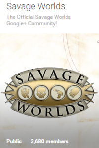Savage Worlds G+ Group