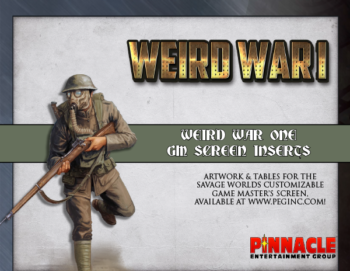 Weird War I GM Screen Inserts PDF