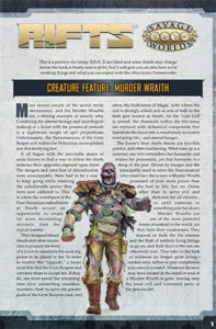 Savage RIFTS - Murder Wraith-Cover