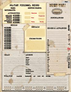 Weird War I Free and Fillable Character Sheet! | Pinnacle ...