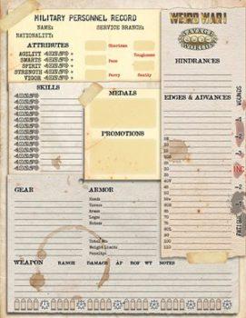 character sheet | Product tags | Pinnacle Entertainment Group