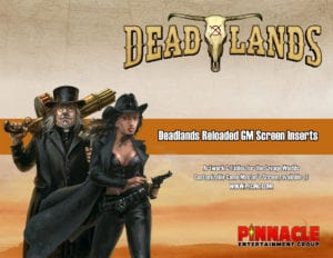 Deadlands Reloaded GM Screen Inserts
