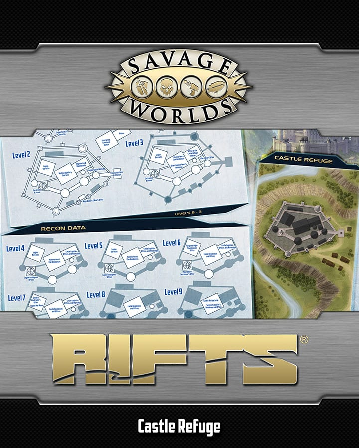 Savage Rifts® Limited Kickstarter Edition Poster Map: North America +  Castle Refuge