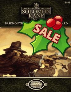 The Savage World of Solomon Kane - ON SALE!