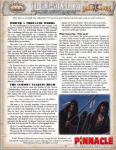 The Soul Stealer Box - A One Sheet Adventure for Deadlands