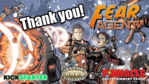 Fear Agent for Savage Worlds Kickstarter Project