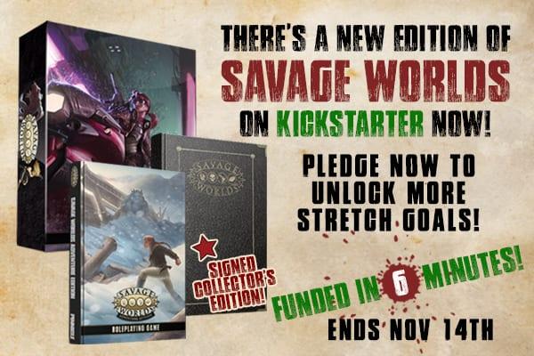 Kickstarter ad for Savage Worlds Adventure Edition